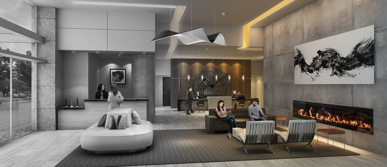 ... Houston Luxury Apartment Lobby ...