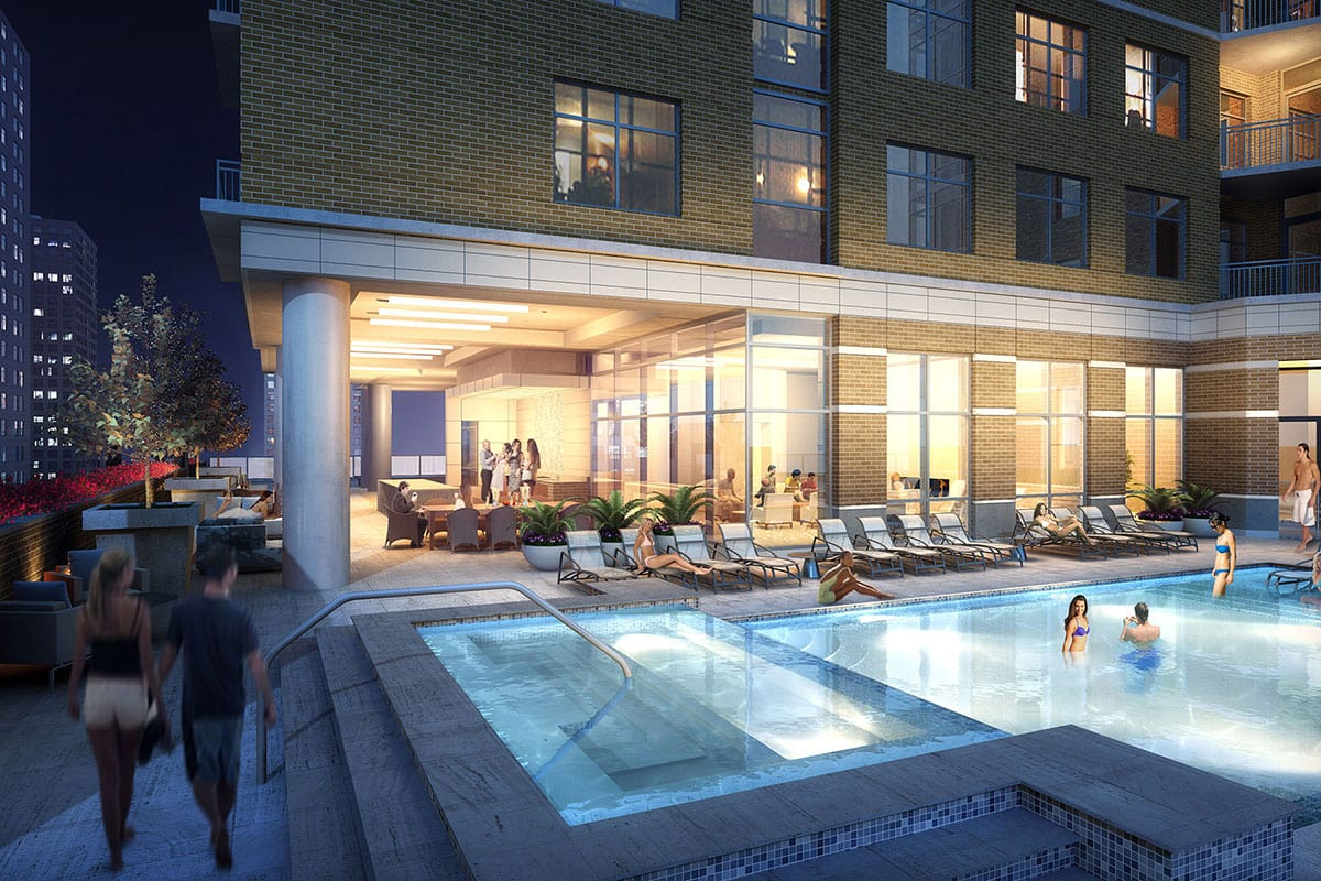 Houston Luxury Apartment Pool Deck